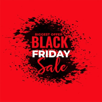 Abstract red grunge black friday sale background