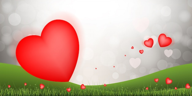Abstract red heart background.