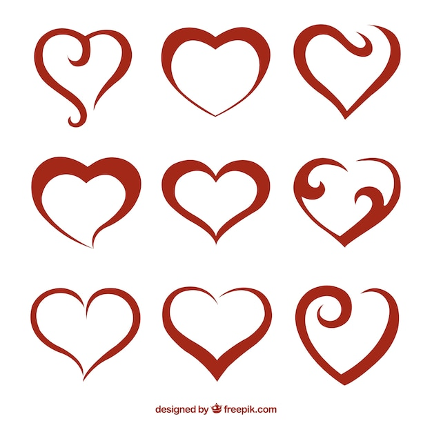 heart vectors photos and psd files free download rh freepik com free vector heart outline free vector heart download