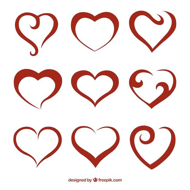 heart vectors photos and psd files free download rh freepik com free vector heart beat free vector heart outline