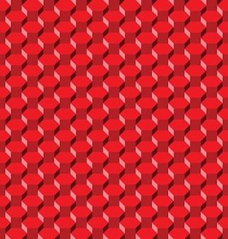 Abstract red hexagon seamless pattern