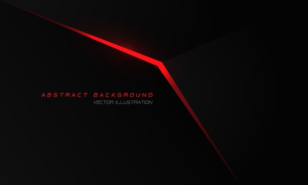 Abstract red light arrow on black metallic with blank space design modern luxury futuristic technology background.
