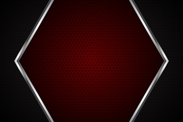 Abstract red light on dark grey square mesh modern luxury futuristic background