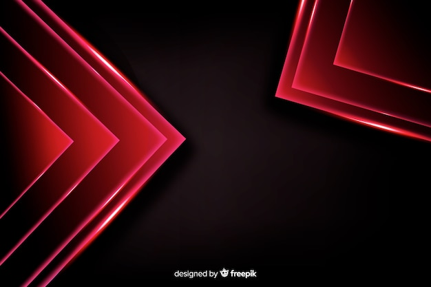Abstract red lights shapes background