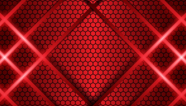 Abstract red line metallic shapes background