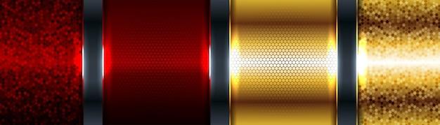 Абстрактный красный роскошный фон с элегантной золотой каймой на темном фоне