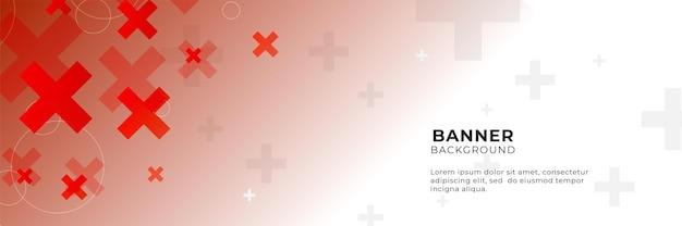 3dオーバーラップレイヤーと健康の幾何学的形状と抽象的な赤い医療バナーの背景