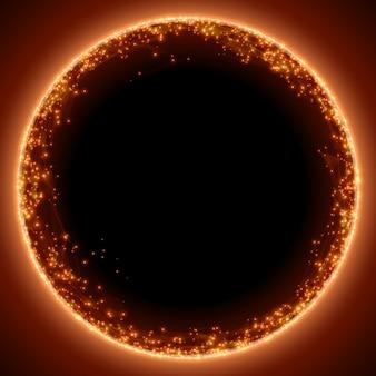 추상 레드 메쉬 배경입니다. 블랙홀 또는 특이점. 미래 기술 스타일.