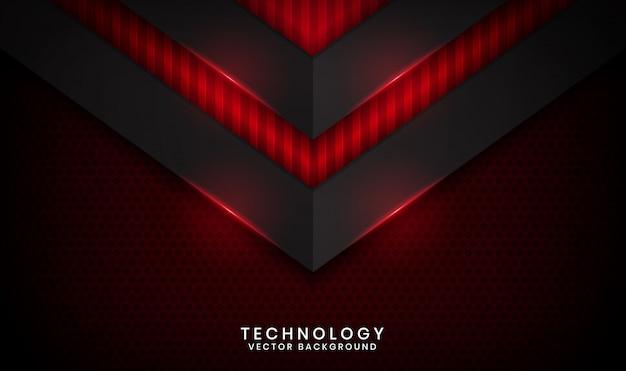 抽象的な赤メタリックな背景