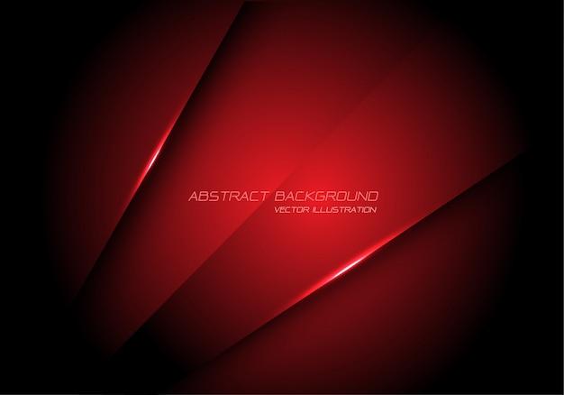 Abstract red metallic overlap design modern futuristic technology background.