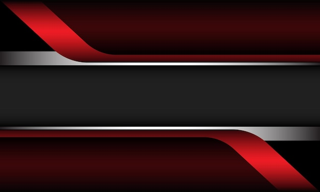 抽象的な赤いメタリックシルバー幾何学的な灰色のモダンで豪華な未来的な背景