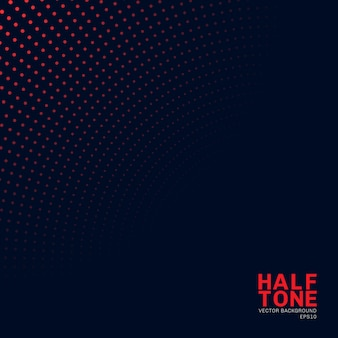 Abstract red neon color halftone background.