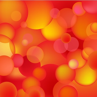 Abstract red and orange bubbles, rounds background, texture