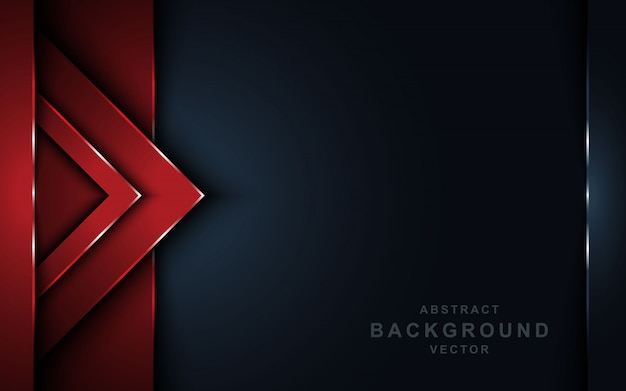 Abstract red overlap layers dark background.