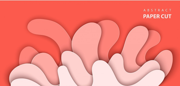 Abstract red paper cut background