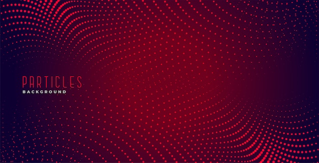 Abstract red particles digital dots background