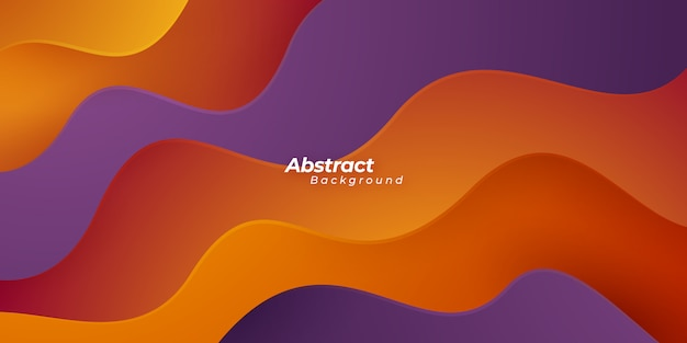 Abstract red and purple wave background.