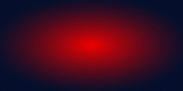 Abstract red radial dots halftone blue background