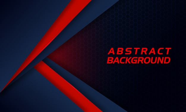 Abstract red shape on dark background