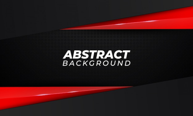 Abstract red shape dark background