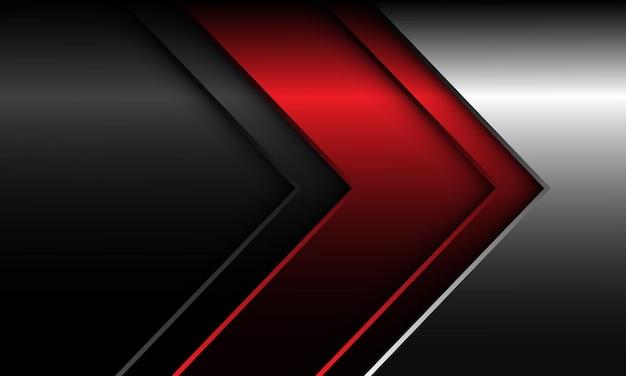 抽象的な赤銀灰色矢印方向技術デザイン現代の未来的な背景