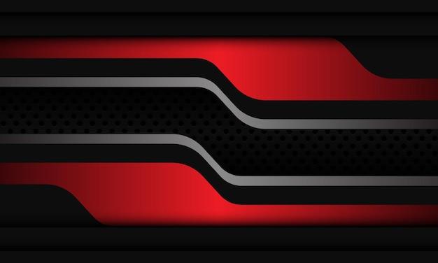 추상 빨간색 은색 회색 원 메쉬 overlab 디자인 현대 배경 벡터 일러스트 레이 션.