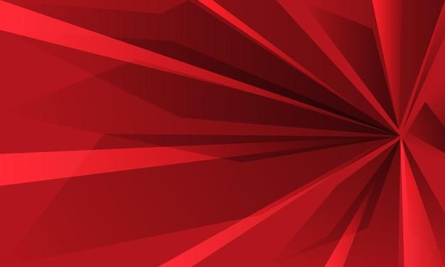 抽象的な赤い速度ズーム幾何学的な背景ベクトル図。