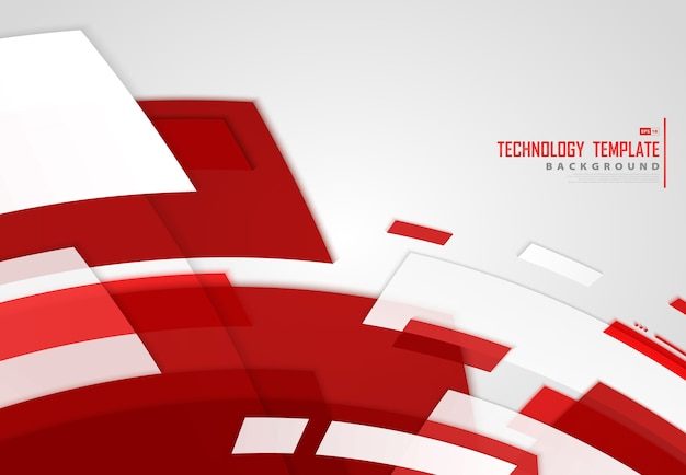 Abstract red stripe lines technology background.