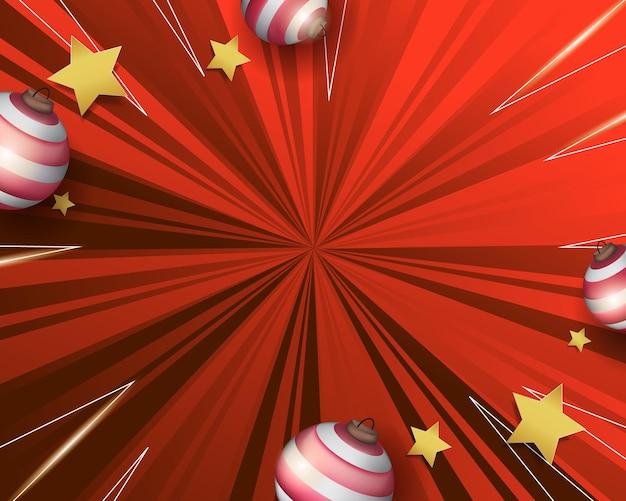 추상 빨간색 깜짝 크리스마스 배경