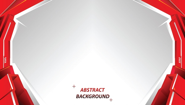Abstract red tech background with stripes