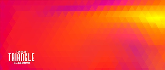 Abstract red triangle banner design