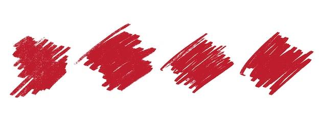 抽象的な赤いターコイズ手描きグランジテクスチャセット