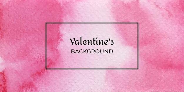抽象的な赤いバレンタイン水彩背景コレクション