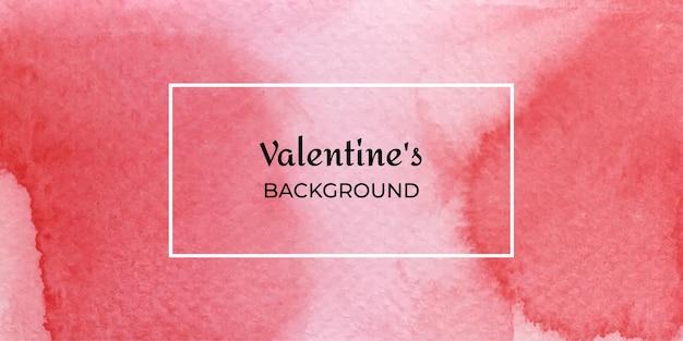 抽象的な赤いバレンタイン水彩ウェブ背景コレクション