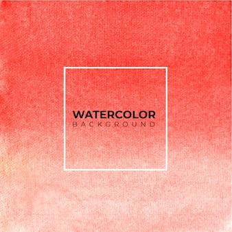 抽象的な赤い水彩背景。手描きです。