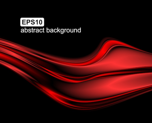 Abstract red wave background