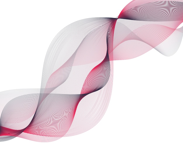 Abstract red wave lines