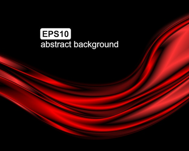 Abstract red waves background.