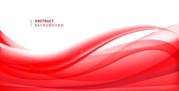 추상 빨간색 물결 모양 배경입니다. 곡선 흐름 모션 그림