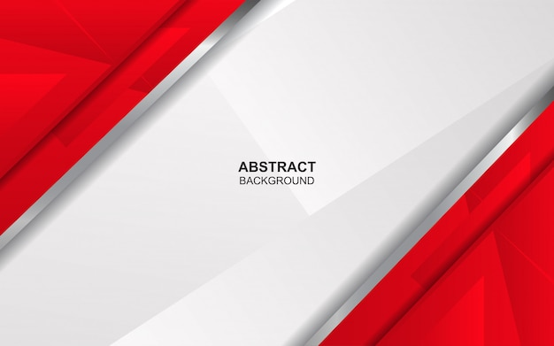 Abstract red and white overlap background