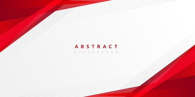 Abstract red with stripes line on gradient white background