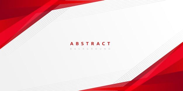 Абстрактный красный с полосой линии на градиентном белом фоне