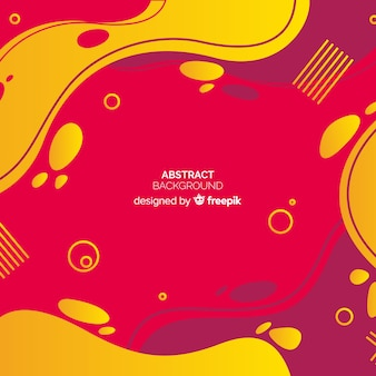 Abstract red and yellow background in memphis style