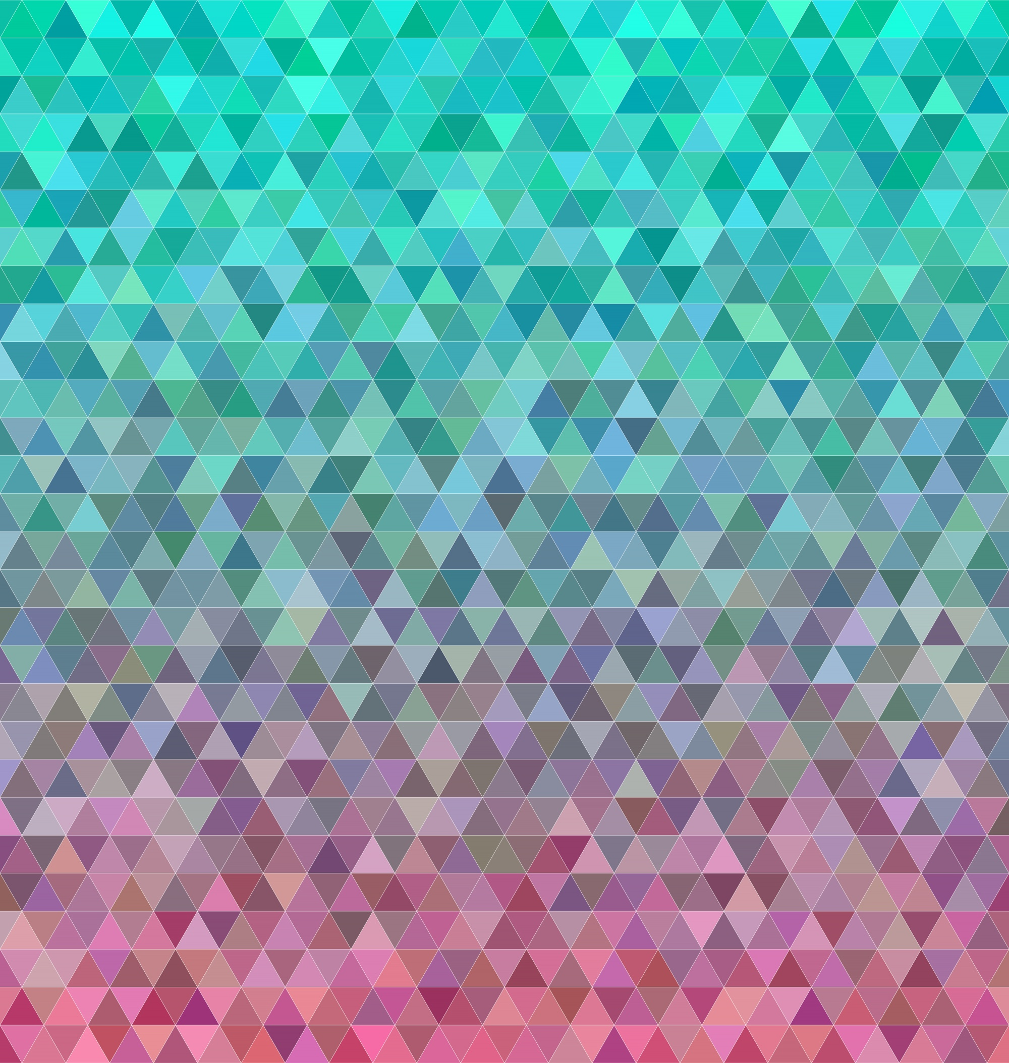 Abstract regular triangle mosaic tile background