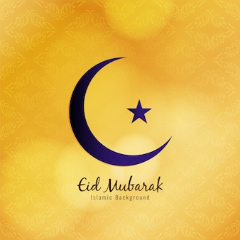 Abstract religious eid mubarak festival yellow