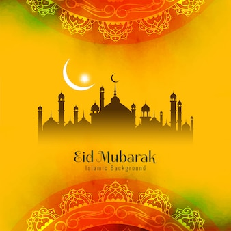 Abstract religious eid mubarak islamic