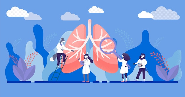 Abstract respiratory system examination and treatment