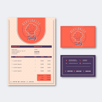 Abstract restaurant menu template