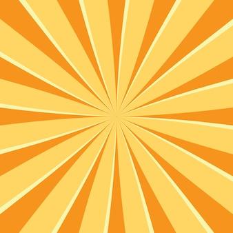 太陽光線で抽象的なレトロな背景。デザインの夏のベクトル図