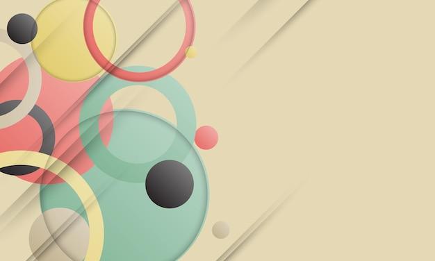 추상 복고풍 색상 기하학적 모양 배경입니다. 광고, 포스터, 배너 패턴입니다.